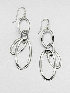 IPPOLITA Sterling Silver Open Oval Drop Earrings
