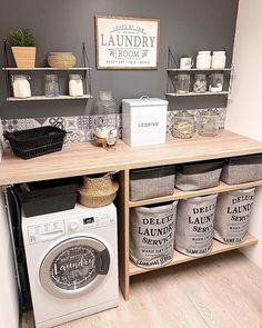 Home Sweet Home: These Are the Biggest Home Décor Trends of 2019 Interior, Laundry Time, Laundry Room Decor, House Styles, Furniture Shop, Home Decor, Room Remodeling, Room Decor, Online Furniture Stores
