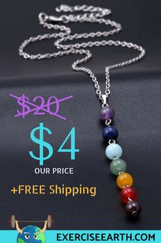 Meditation | Get your chakra necklace for only $4, with FREE Shipping worldwide. *NOTE: Every necklace sold, provides 1 meal for those in need through the Pledgeling Foundation™, so you can channel your energy, while contributing towards a good cause! Nameste <3 #Meditation #Yoga
