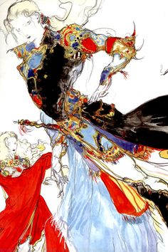 Digik Gallery > Yoshitaka Amano - Final Fantasy Japan Artbook ID: Final Fantasy Artwork, Final Fantasy Characters, Hybrid Art, Yoshitaka Amano, Love Illustration, Japanese Artists, Les Oeuvres, Game Art, Illustrators