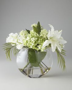 Green & White Faux Flowers by John-Richard Collection at Neiman Marcus.