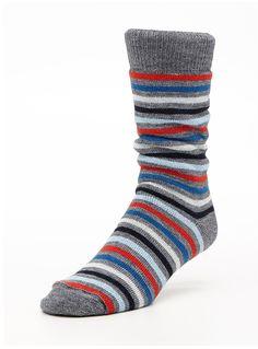 Simons Striped Socks, Hosiery, Merino Wool, Wool Blend, Polyvore, Fashion, Socks, Moda, Fashion Styles