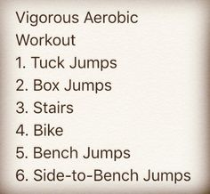 Anyone else do a cardio workout today? This was mine. Here are 6 different Vigorous Intensity Aerobic-moves that can be used with the Worldwide Public Health Guidelines Template. Do as long as you like as long as in bouts of 10min's or more at one time. Good for anyone aged 18-64, EVERYONE, even you!