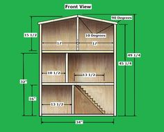 Barbie Printable Dollhouse Stuff | To find the Free Dollhouse Plans that we used from rodswoodworking go ...