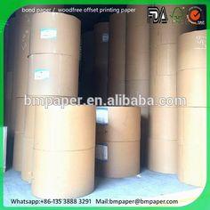 60 70 80gram 23*38inch woodfree Offset Paper/ papel bond