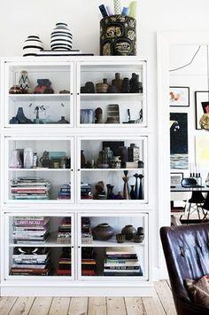 glass doors keep books dust-free