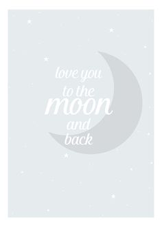 Moon and back blue, poster