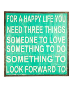 Happy Life Wall Sign