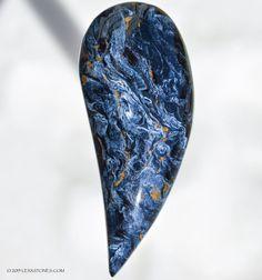 Electric Blue Namibian Pietersite Curved Drip © 2015 LEXXSTONES.COM