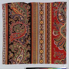 Colln of Met Museum. Embroidery Motifs, Hand Embroidery Designs, Textile Design, Fabric Design, Textures Patterns, Print Patterns, Robin Photos, Paisley Art, Pattern And Decoration