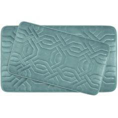 Chain Ring Large 2 Piece Premium Micro Plush Memory Foam Bath Mat Set