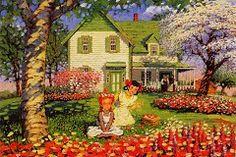 Flower time (Anne of Green Gables) Anne Auf Green Gables, Lucas Jade Zumann, Book Tree, Anne With An E, Cottage Art, Anne Shirley, Prince Edward Island, Manga Illustration, Snow Queen
