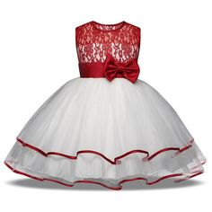 Baby Tulle Princess Dress For Girls Kids Girl Christmas Party Dresses Girls Ceremony Flower Wedding Gown Children Clothing Girl Dress New Year Party Dress Christmas Dresses for Girl New Tutu Sleeveless Lace Princess Ladies Girls Clothes Depar Red Flower Girl Dresses, Cute Girl Dresses, Lace Flower Girls, Dresses Dresses, Party Dresses, Kids Formal Wear, Girls Party Wear, Girls Christmas Dresses, Baby Girl Princess