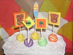 Aloha!...luau cake pops