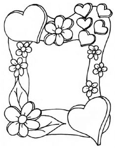 Mothers Day Coloring Pages For Toddlers Coloring Book Pages, Coloring Sheets, Page Borders Design, Wood Burning Patterns, Borders And Frames, Mothers Day Crafts, Digital Stamps, Doodle Art, Art Projects