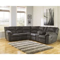 Get Your Tambo Pewter 2 Pc Reclining Sectional At Cls Factory Direct Columbus Oh Furniture