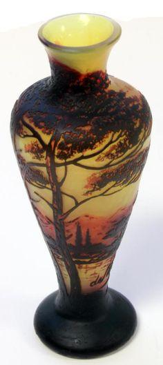 Devez French Cameo Art Glass  via eliteauctions.com
