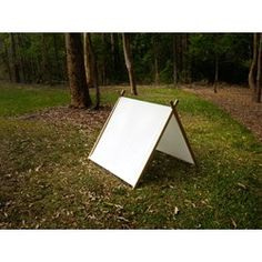 A Frame Play Tent made from solid wood (White)