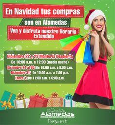 Tus compras de NAVIDAD son en ALAMEDAS !   Te esperamos HOY para que realices todas tus compras navideñas #MonteríaDespierta hasta las 12:00 (media noche)  Una #Navidad diferente solo aquí en Alamedas Centro Comercial ! #Piensaenti