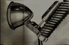 Detalle metálico de una moto, Lápiz