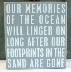 "Do you remember your last visit to your favorite beach? A twist on the classic saying brings a bit of your beach memories home with this wood box sign that is a fun accent piece and can freestand or hang for wall display. Measuring 11"" x 10"" x 1.75""d it would make a great gift or conversation piece.  Primitives by Kathy from California Seashell Company"