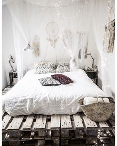 Sweet sunday ☁️ #noeudsjustinehome #myhome #bedroom #bohemianbedroom