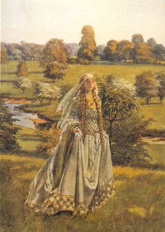Guinevere  (Lord Alfred Tennyson)  Her memory from old habit of the mind  Went slipping back upon the golden days  In which she saw him first, when Launcelot came.