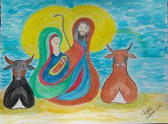 Aguarela de Natal Painting, Watercolour Paintings, Watercolor Paintings, Watercolor Christmas, Christmas Time, Drawings, Art, Painting Art, Paintings