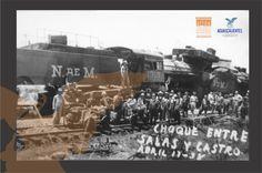 Choque de Trenes, entre Salas y Castro.- 17 de Abril  de 1938.- Fondo Archivo General Municipal.