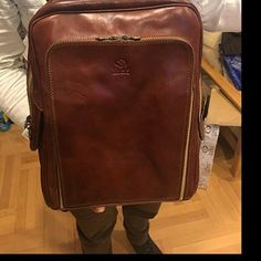 Leather Backpack Women/ Leather Backpack Laptop/ Personalized Leather Bag/ Convertible Bag for Women/ Shoulder Bag - Clarissa Leather Backpack For Men, Briefcase For Men, Leather Briefcase, Leather Men, Macbook Pro 13, Breathe, Leather Portfolio, Organizer, Laptop Bag