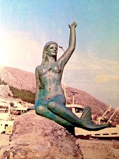 Mermaid by Irini Kokkinou, port of Kalymnos island, Greece.