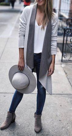 fall outfit idea: long cardigan addiction