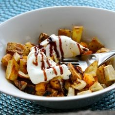 Root Vegetable Hash & Poached Egg