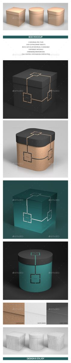 Box Mockup — Photoshop PSD #container #identity • Available here → https://graphicriver.net/item/box-mockup/16254728?ref=pxcr