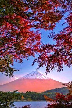 Mount Fuji in autumn, Japan http://www.beautifulvacationspots.com/