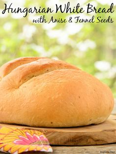 Hungarian White Bread is light, airy, and flavored with anise and fennel seeds (traditional spices of Hungary). Best Bread Recipe, Bread Recipes, Real Food Recipes, Yeast Bread, Bread Baking, Amish White Bread, Different Types Of Bread, Fruit Bread, Quick Bread