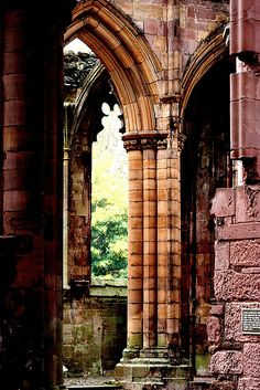 | ♕ |  Melrose Abbey Ruins, Scotland  | by © Sonja Pieper