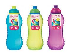 3 sistema 330ml drink #water #juice squash bottle aqua blue lime #green pink scho,  View more on the LINK: http://www.zeppy.io/product/gb/2/400782215238/