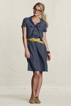 Land's End polka dot dress