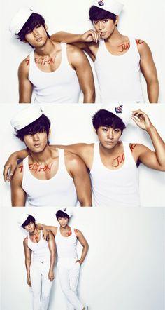2PM Taecyeon and Junho – Cosmopolitan Magazine June Issue '12