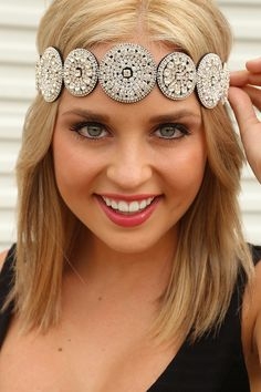 Let Me Walk Away Headband: Silver/Black #shophopes