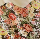 Beige Sleeveless Floral Flare Lace Dress - Sheinside.com