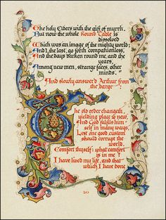 "Alfred Lord Tennyson's Morte d'Arthur  ""Designed, Written Out, and Illuminated"" by Alberto Sangorski —1912"