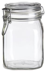 Specialty Bottle - 38 oz Bale Square Glass Jar with Swing Top Lid, $4.77 (http://www.specialtybottle.com/glass-jars/bale-swing-top/38oz-bale38)