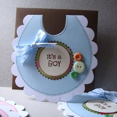 Baby bib card... AWESOME!!!