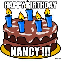 Find and save Happy Birthday Nancy Meme Memes Happy Birthday Girls, Happy Birthday Meme, Birthday Name, Birthday Board, Birthday Greeting Cards, Birthday Greetings, Birthday Wishes, Nancy Name, Nutella Mousse