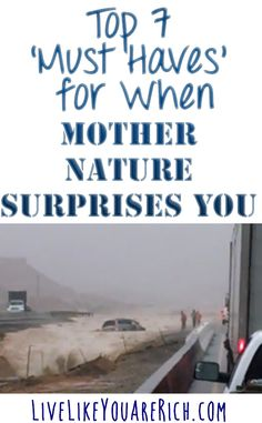 How to Prepare for Natural Disasters- Great list of must-have items incase anything goes wrong.