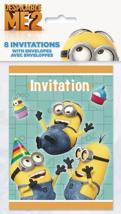 Despicable Me Party Invitations:Amazon:Toys & Games