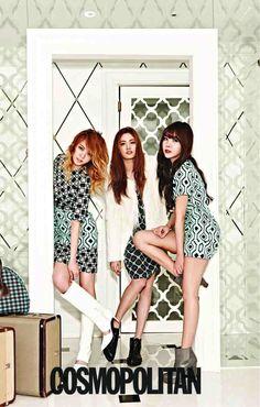 Orange Caramel Dresses Boho Chic for Cosmopolitan Magazine [PHOTOS] Kpop Girl Groups, Kpop Girls, Korean Girl, Asian Girl, Orange Caramel, Girl Fashion, Fashion Design, Kpop Fashion, Cute Woman