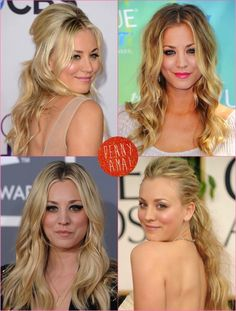 Beautiful Kaley Cuoco's hairstyles and makeup!